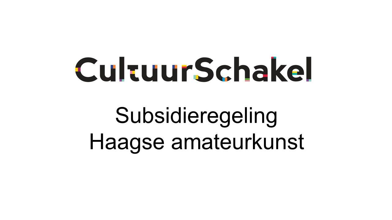 Subsidieregeling Haagse amateurkunst