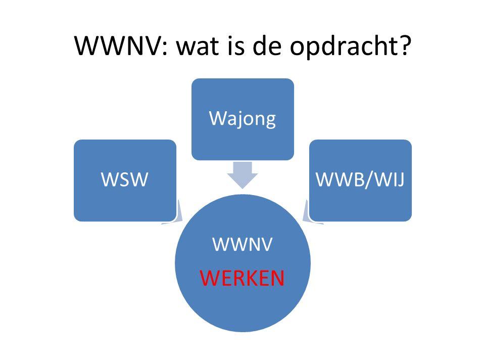 WWNV: wat is de opdracht WWNV WERKEN WSWWajongWWB/WIJ