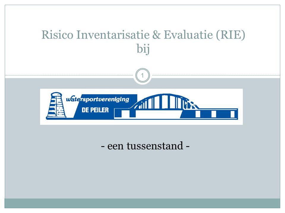 Risico Inventarisatie & Evaluatie (RIE) bij - een tussenstand - 1