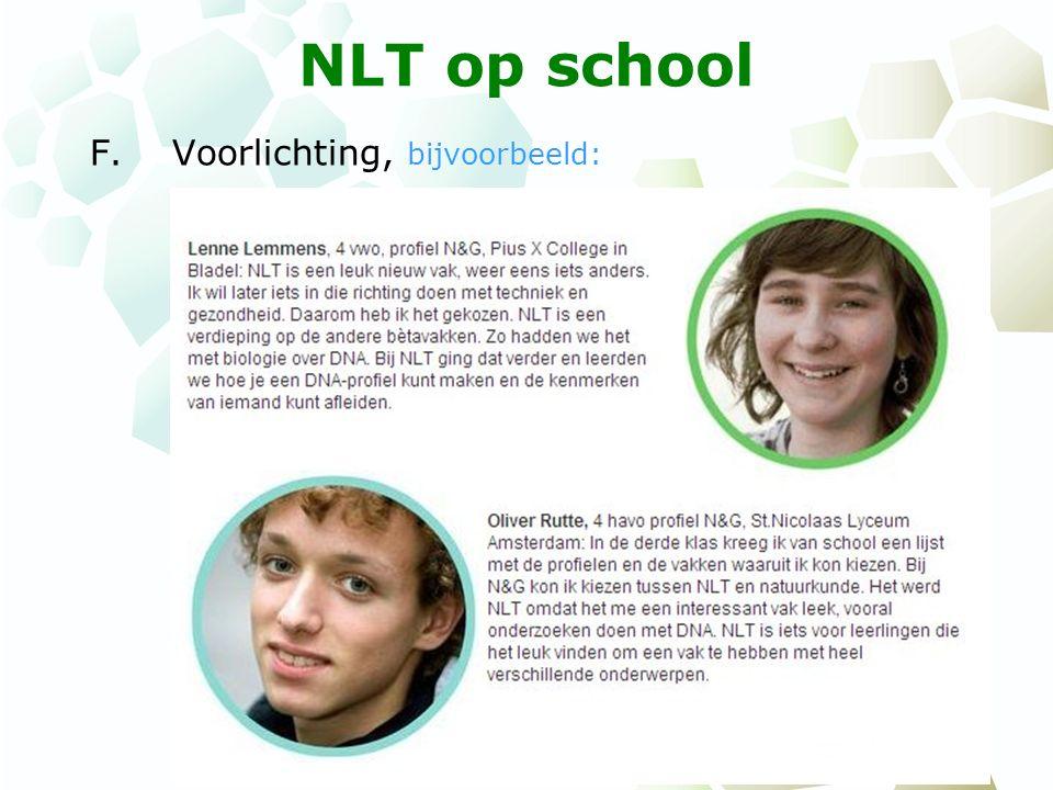 NLT op school G.Begroting, bijvoorbeeld: In het eerste en tweede jaar zijn er 150 ontwikkeluren voor de docenten.