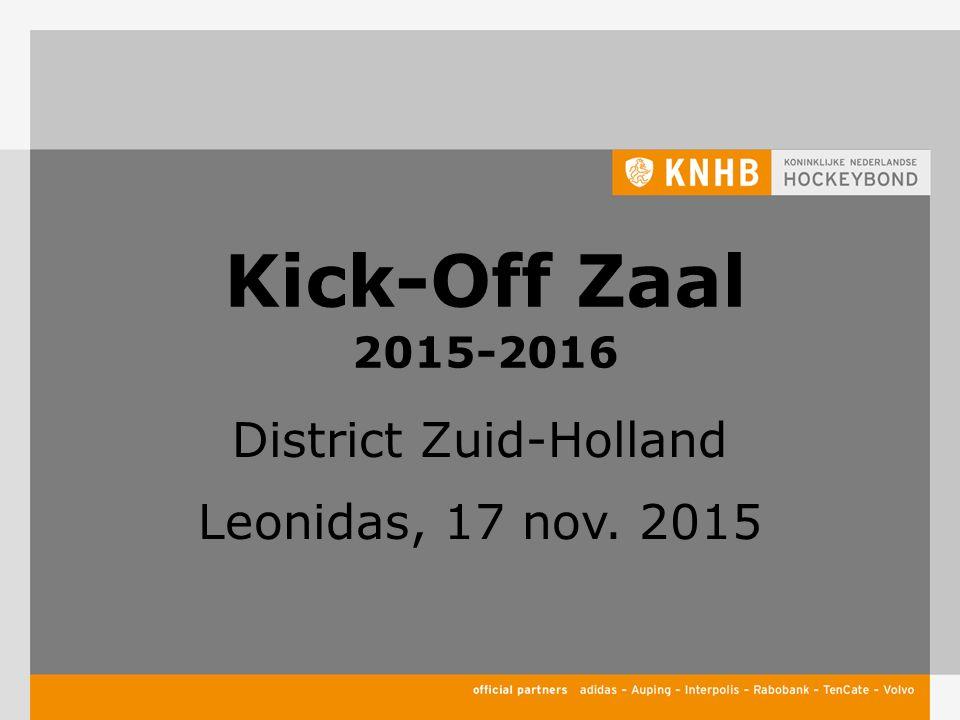 Kick-Off Zaal 2015-2016 District Zuid-Holland Leonidas, 17 nov. 2015