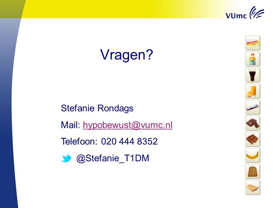 Vragen? Stefanie Rondags Mail: hypobewust@vumc.nlhypobewust@vumc.nl Telefoon: 020 444 8352 @Stefanie_T1DM