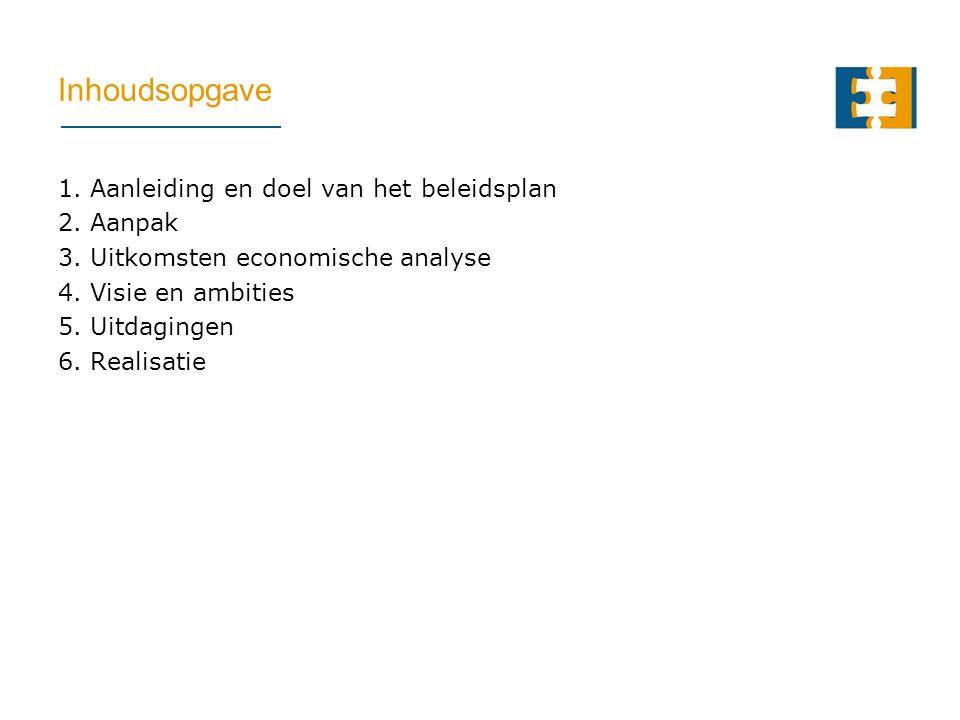Inhoudsopgave 1. Aanleiding en doel van het beleidsplan 2.