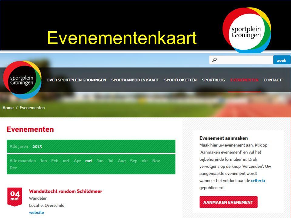 Sportevenementen op de kaart: Evenementenkalender Evenementenkaart
