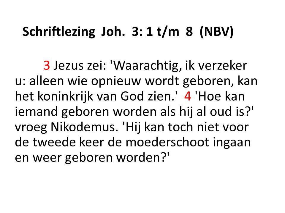 Schriftlezing Joh.