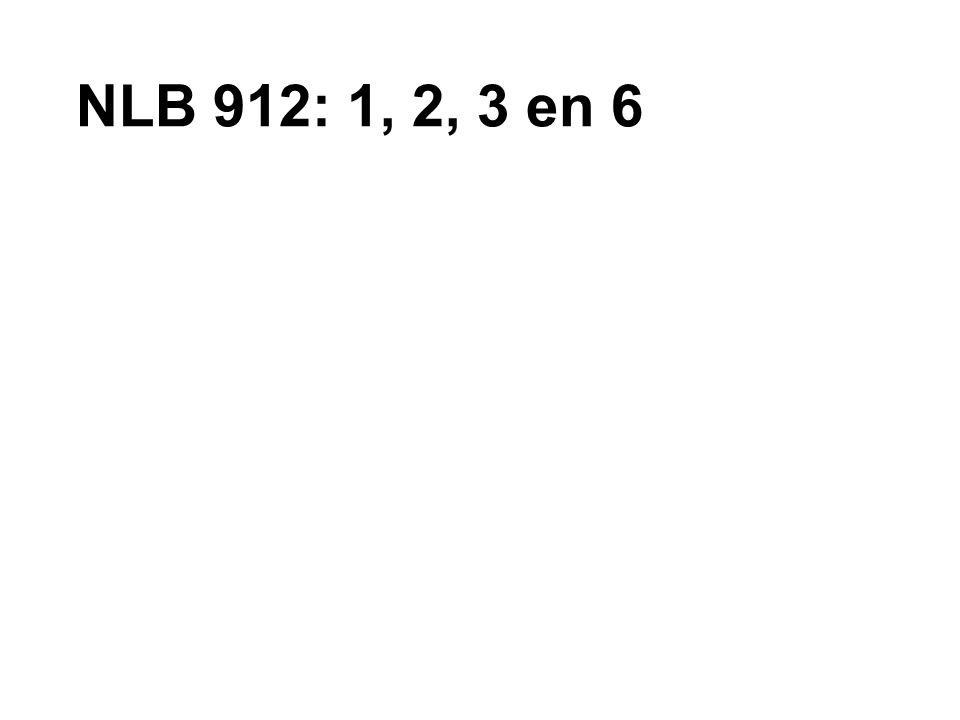 NLB 912: 1, 2, 3 en 6