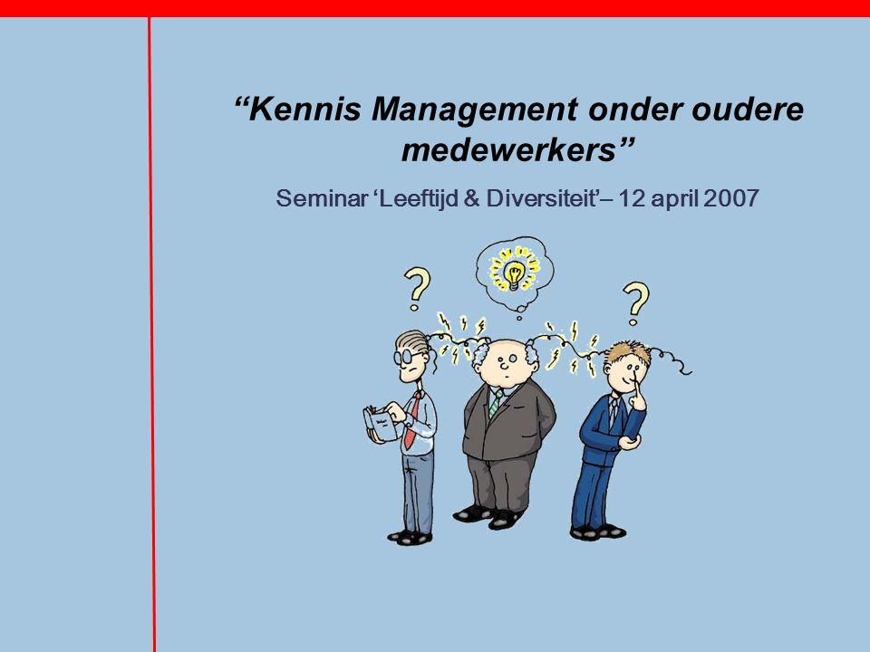 Kennis Management onder oudere medewerkers Seminar 'Leeftijd & Diversiteit'– 12 april 2007