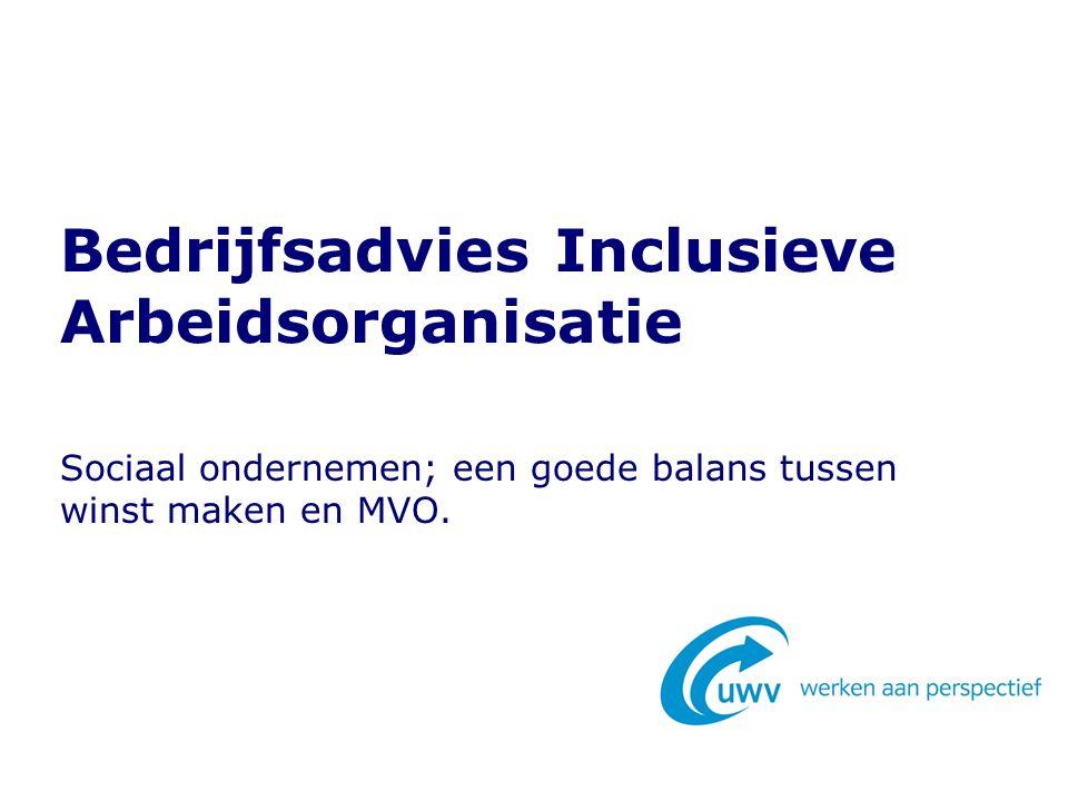 Sociaal ondernemen; een goede balans tussen winst maken en MVO. Bedrijfsadvies Inclusieve Arbeidsorganisatie