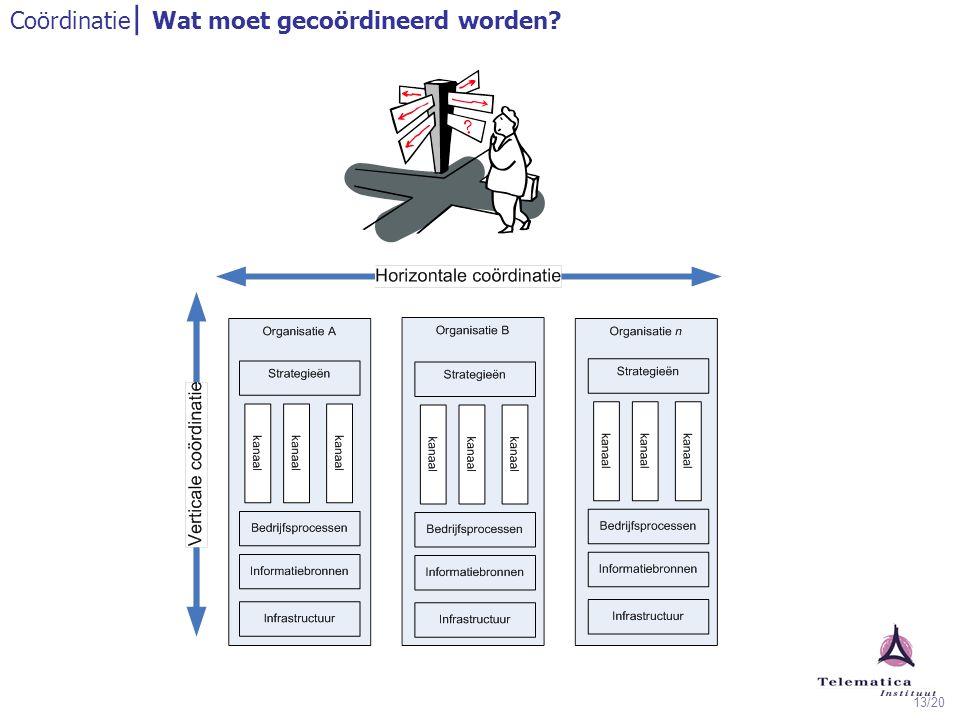13/20 Coördinatie | Wat moet gecoördineerd worden?