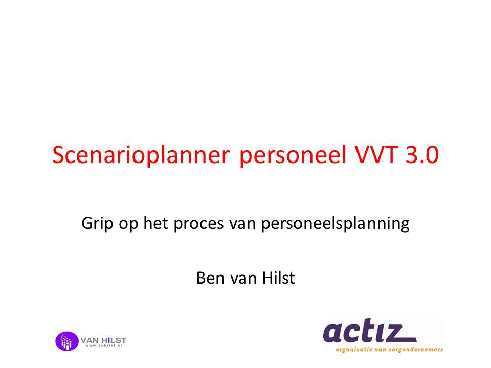 Scenarioplanner personeel VVT 3.0 Grip op het proces van personeelsplanning Ben van Hilst