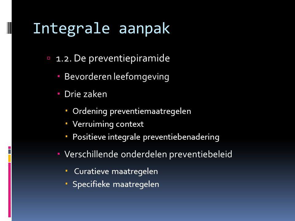 Integrale aanpak  1.2.