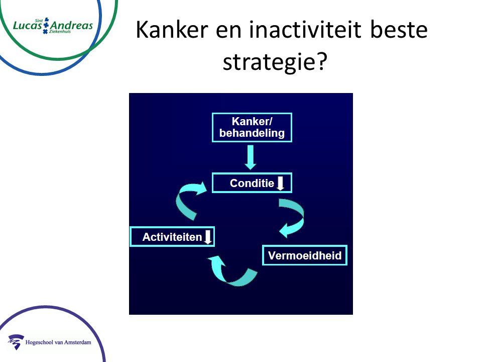 Kanker en inactiviteit beste strategie