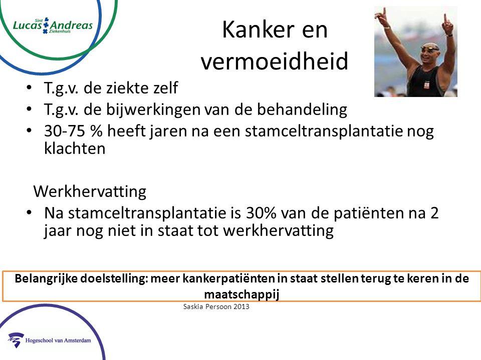 Oncologische revalidatie- kwaliteit bewijs