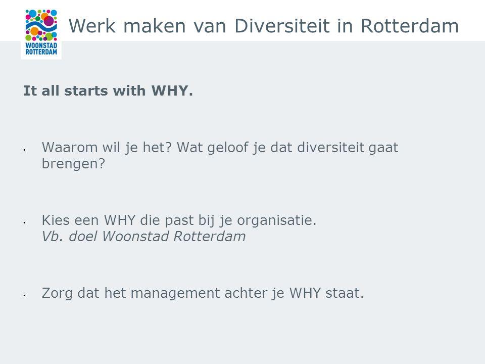 Werk maken van Diversiteit in Rotterdam Diversiteit is er gewoon, Maak er geen punt van, maar maak er gebruik van!