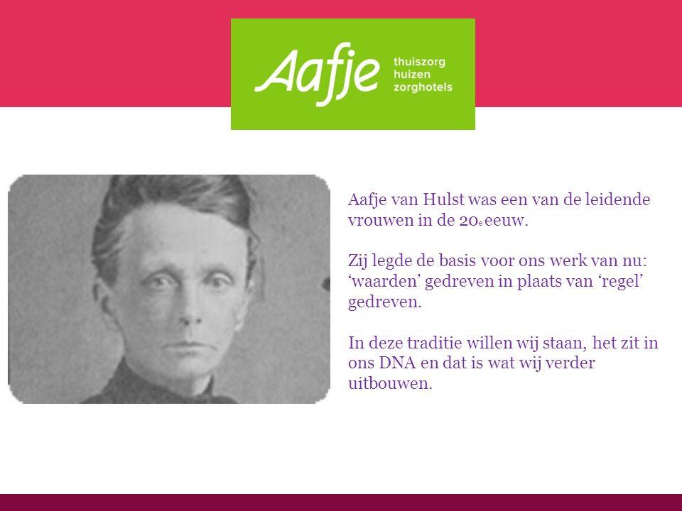 De droom van Aafje Uw leven, uw dag, uw thuis.Dat is wat klanten van Aafje ervaren.