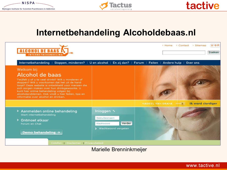 Inhoud presentatie Alcoholdebaas.nl Nieuwe ontwikkelingen Onderzoek en resultaten Stellingen Motiveren