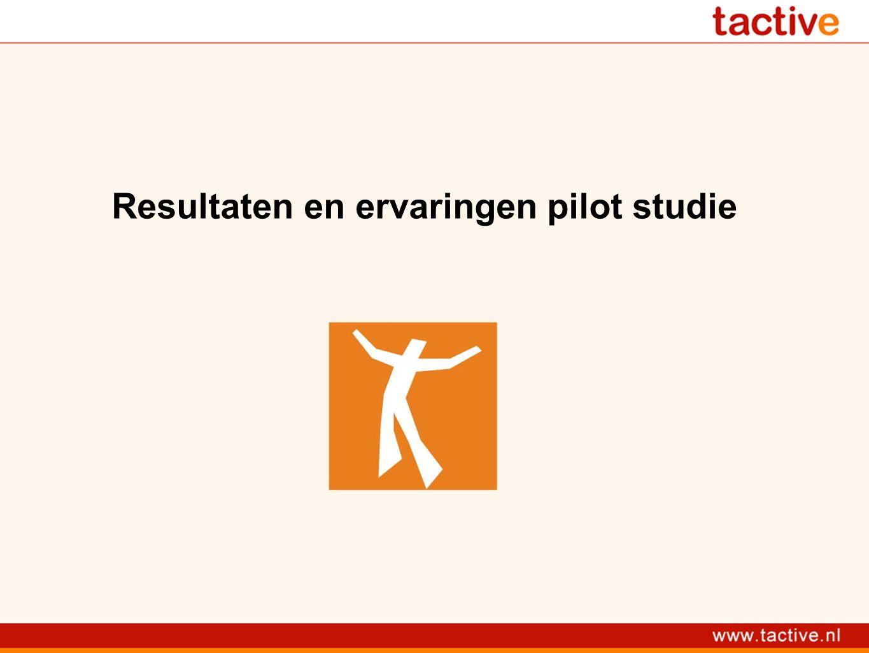 Resultaten en ervaringen pilot studie
