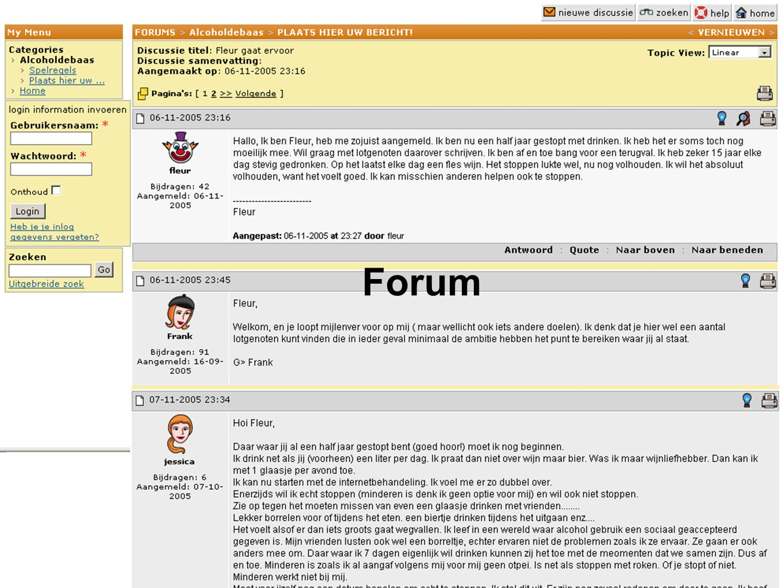 Behandelresultaten** ** Postel MG, de Haan HA, & de Jong CAJ (Accepted).