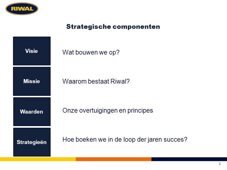 Strategische componenten Wat bouwen we op. Waarom bestaat Riwal.