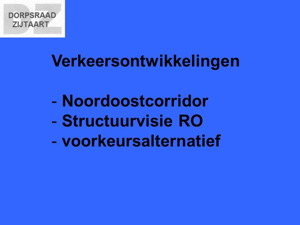 Verkeersontwikkelingen - Noordoostcorridor - Structuurvisie RO - voorkeursalternatief