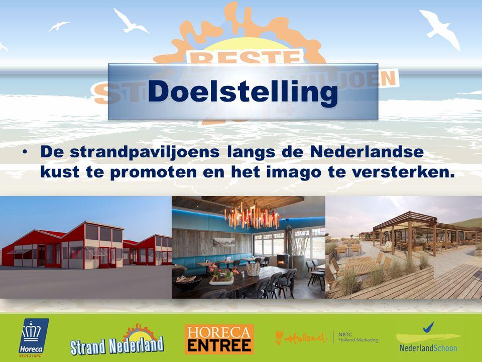 Doelstelling De strandpaviljoens langs de Nederlandse kust te promoten en het imago te versterken.