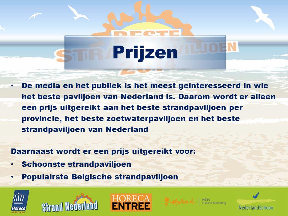 Prijzen De media en het publiek is het meest geïnteresseerd in wie het beste paviljoen van Nederland is.