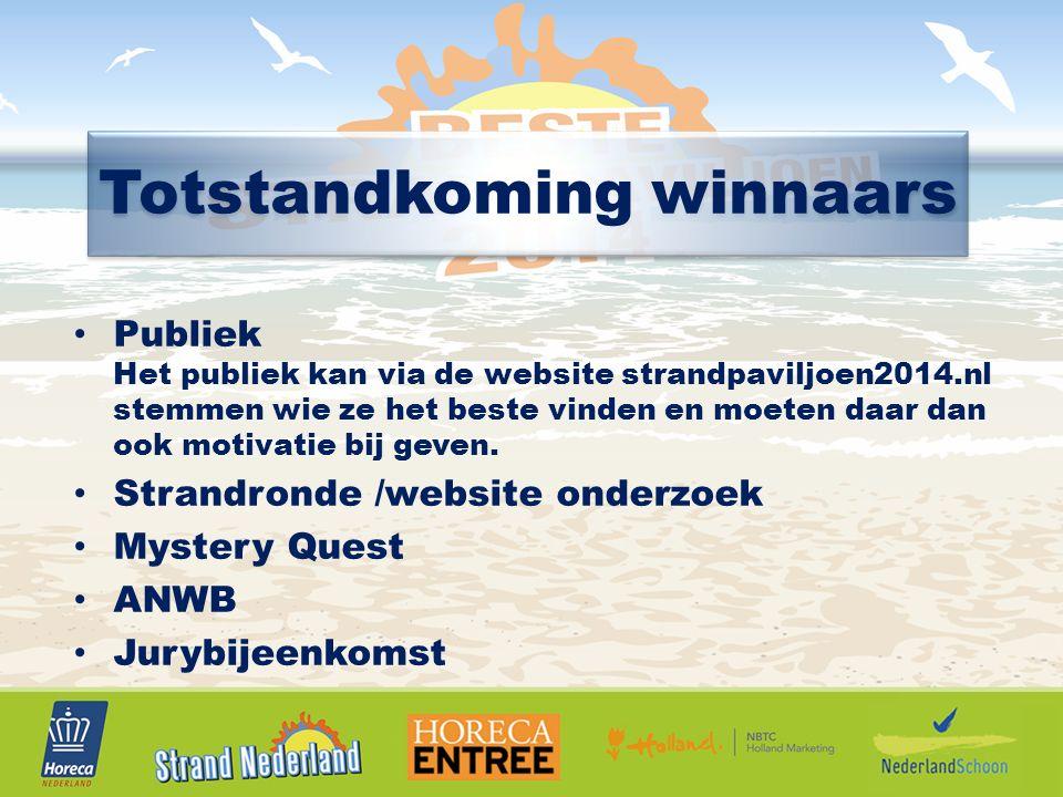 Publiek Het publiek kan via de website strandpaviljoen2014.nl stemmen wie ze het beste vinden en moeten daar dan ook motivatie bij geven.