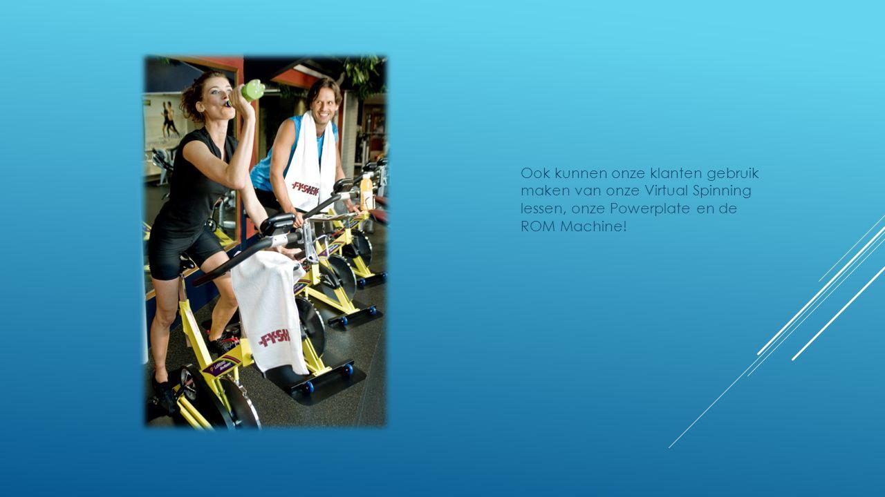 Ook kunnen onze klanten gebruik maken van onze Virtual Spinning lessen, onze Powerplate en de ROM Machine!