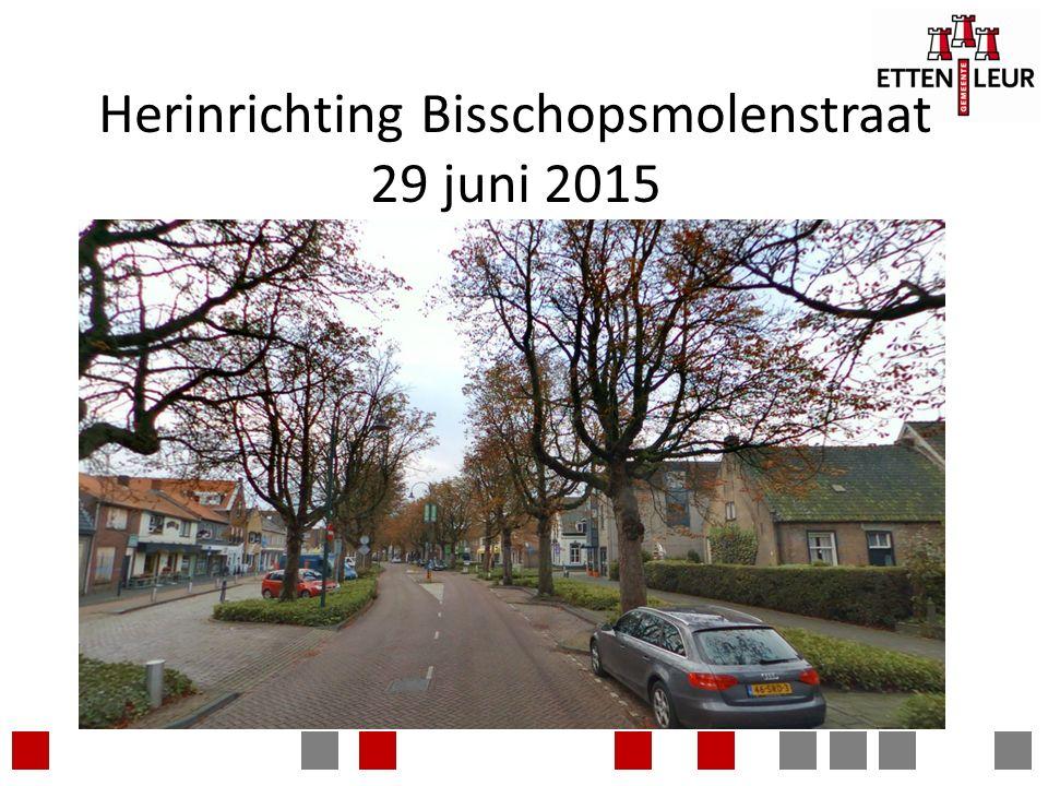 Herinrichting Bisschopsmolenstraat 29 juni 2015