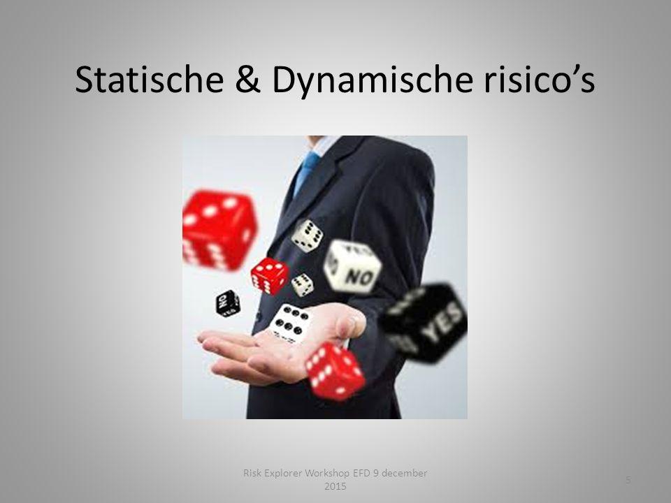 Statische & Dynamische risico's 5 Risk Explorer Workshop EFD 9 december 2015
