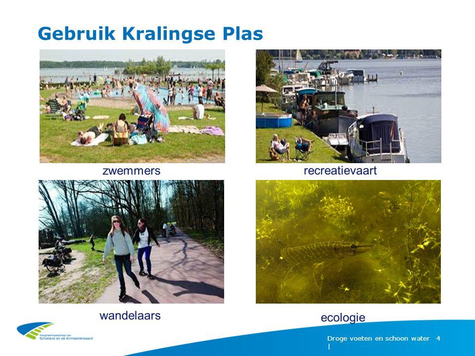 Integraal Plan Kralingse Plas (2007) Droge voeten en schoon water | 5 Aanleiding  Waterbodemverontreiniging (lood)  Mogelijkheden voor recreatie en beleving verbeteren -Verbeteren inrichting -Gezond zwemwater -Goede ecologische toestand bereiken Samenwerking: provincie, waterschap, gemeente