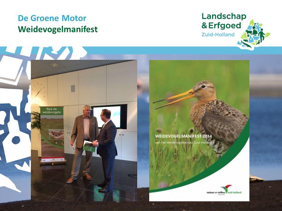 De Groene Motor WEIDEVOGELDAG 2014 Inhoudelijk Inhoudelijk Kuikenbedrijfsvoering Hoe beperk je slachtoffers onder kuikens op moment dat boer wil gaan maaien.