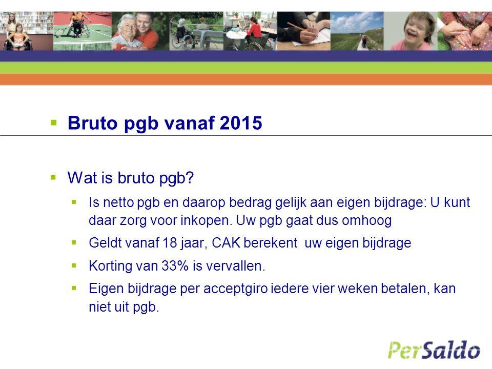  Bruto pgb vanaf 2015  Wat is bruto pgb.