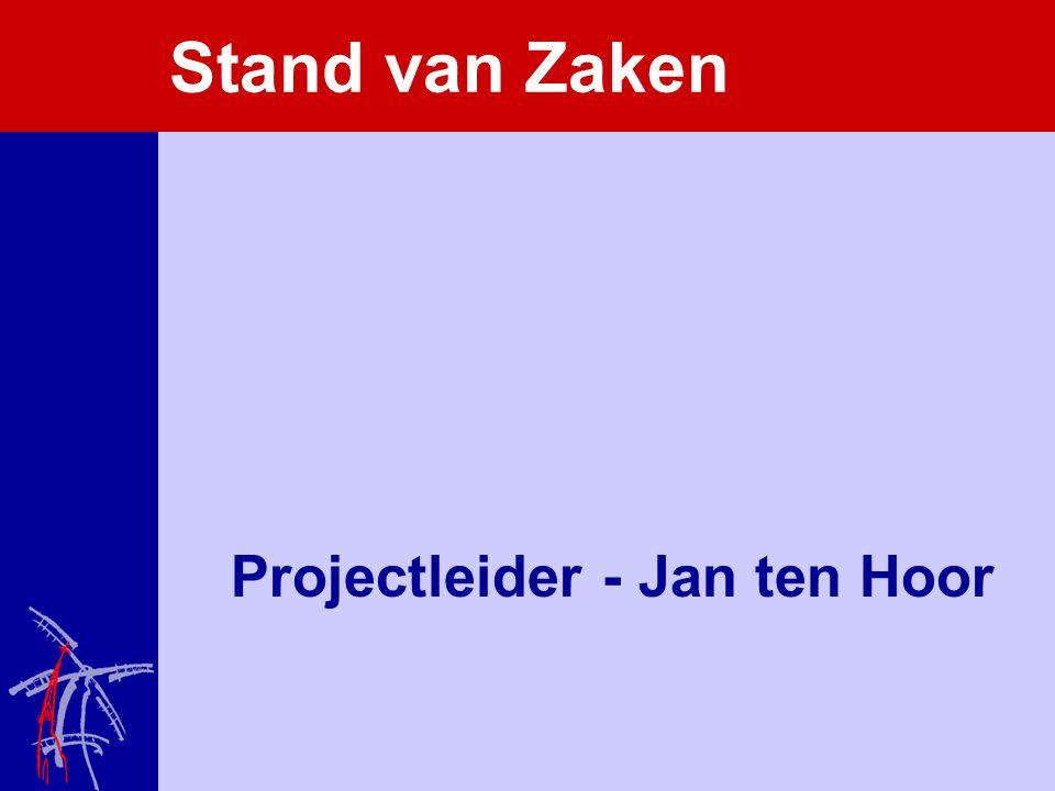 Stand van Zaken Projectleider - Jan ten Hoor