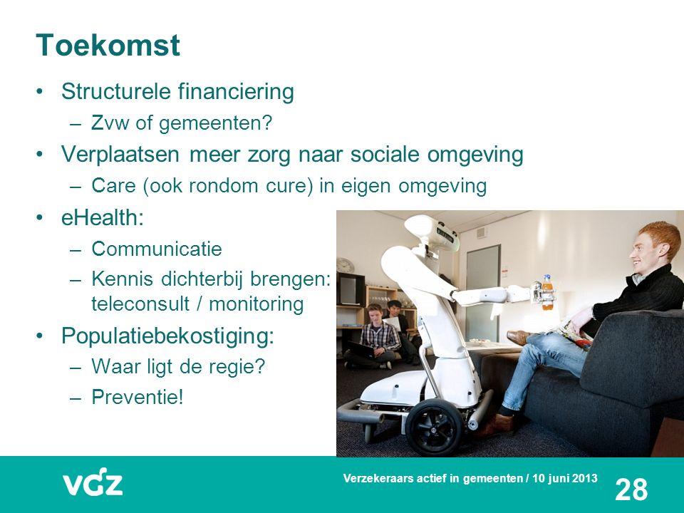 Toekomst Structurele financiering –Zvw of gemeenten.