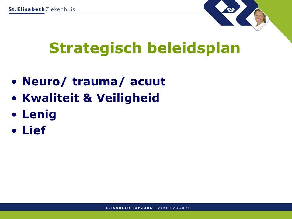 Strategisch beleidsplan Neuro/ trauma/ acuut Kwaliteit & Veiligheid Lenig Lief