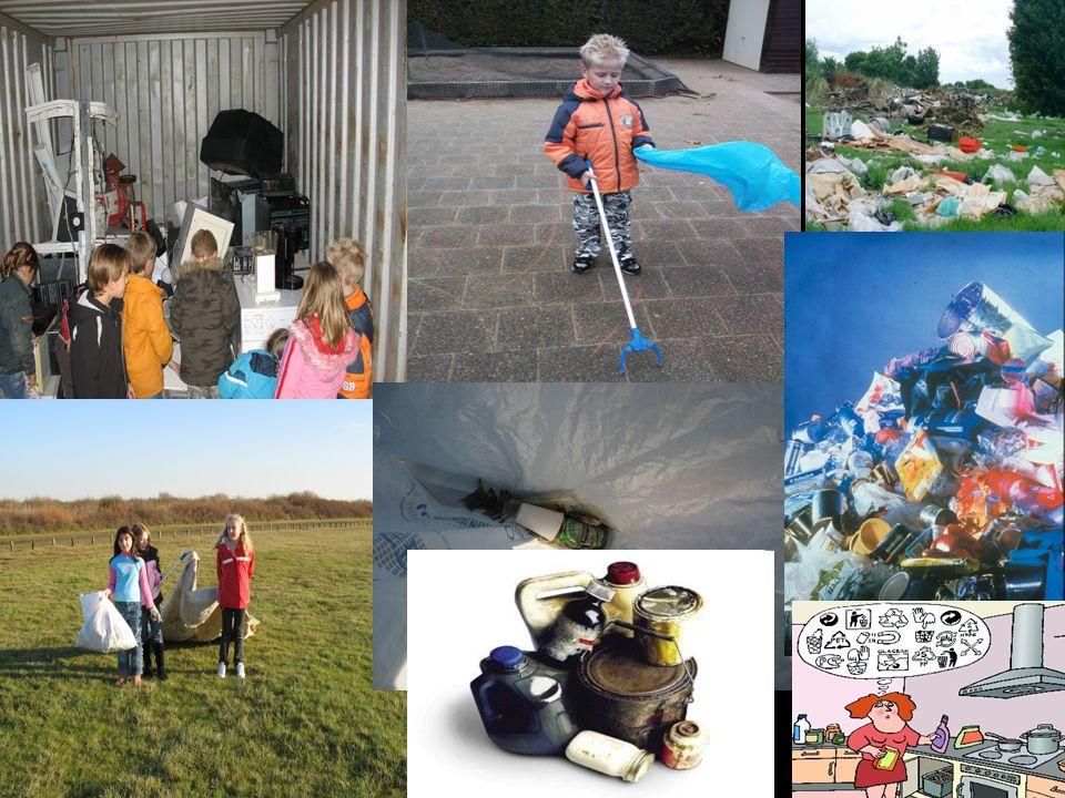 Afval opruimen foto`s