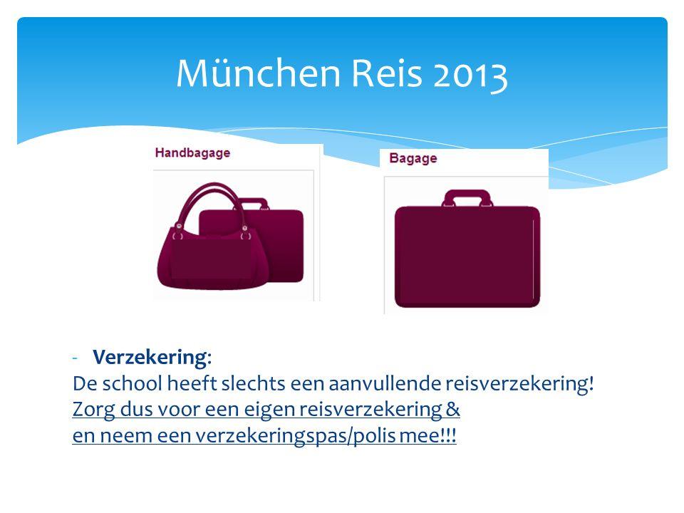 -Verzekering: De school heeft slechts een aanvullende reisverzekering.