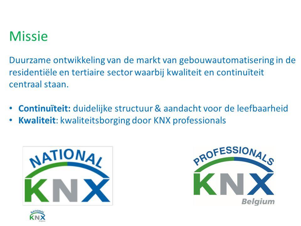 Missie Duurzame ontwikkeling van de markt van gebouwautomatisering in de residentiële en tertiaire sector waarbij kwaliteit en continuïteit centraal staan.