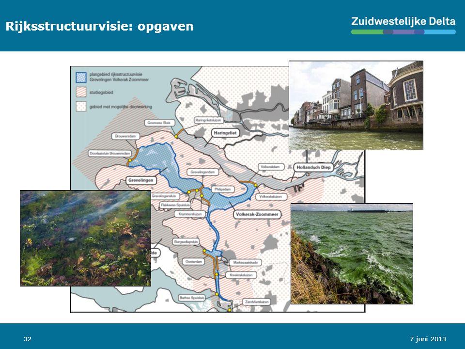 32 Rijksstructuurvisie: opgaven 7 juni 2013