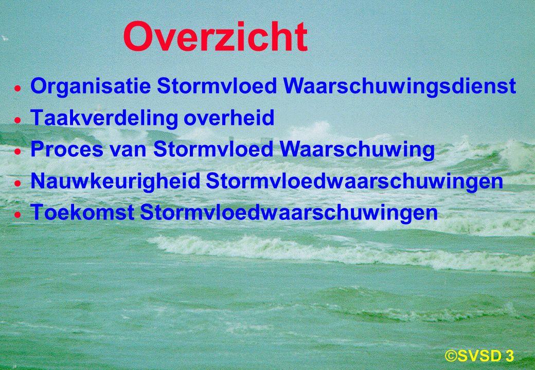 3 Overzicht  Organisatie Stormvloed Waarschuwingsdienst  Taakverdeling overheid  Proces van Stormvloed Waarschuwing  Nauwkeurigheid Stormvloedwaarschuwingen  Toekomst Stormvloedwaarschuwingen