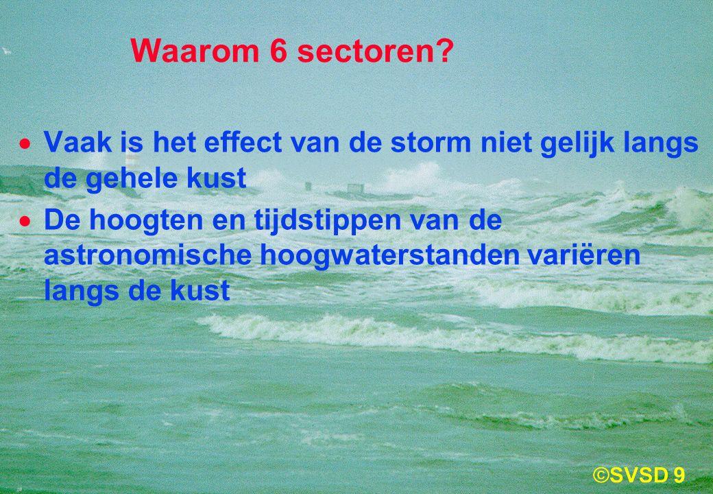 9 Waarom 6 sectoren.