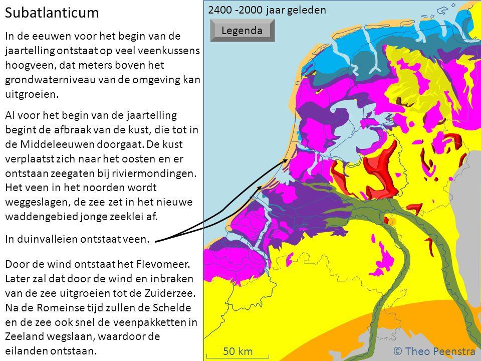 50 km Weichsel ijstijdSubboreaal (1) atat Al voor het begin van de jaartelling begint de afbraak van de kust, die tot in de Middeleeuwen doorgaat. De