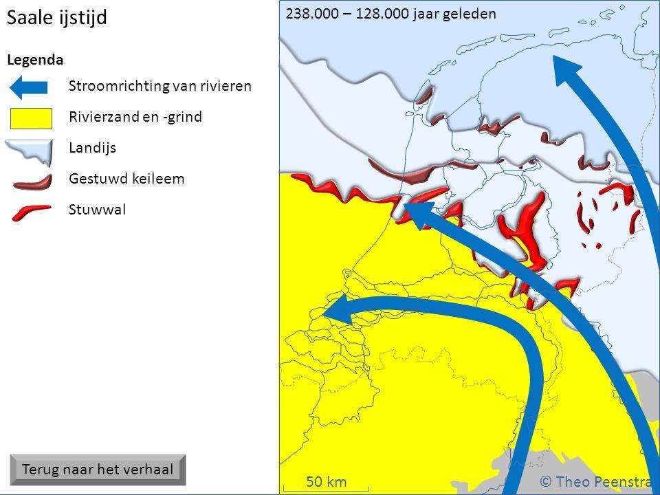 Deze presentatie is gemaakt door Theo Peenstra. Gratis te gebruiken voor educatieve doeleinden, niet voor commerciële distributie 50 km Saale ijstijd