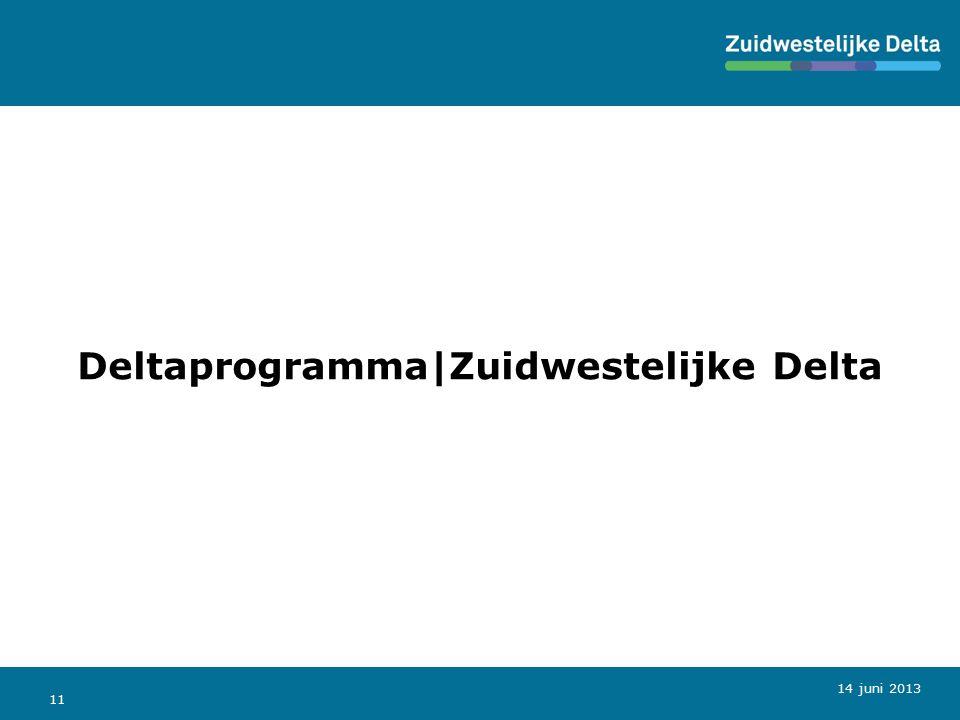 11 Deltaprogramma|Zuidwestelijke Delta 14 juni 2013