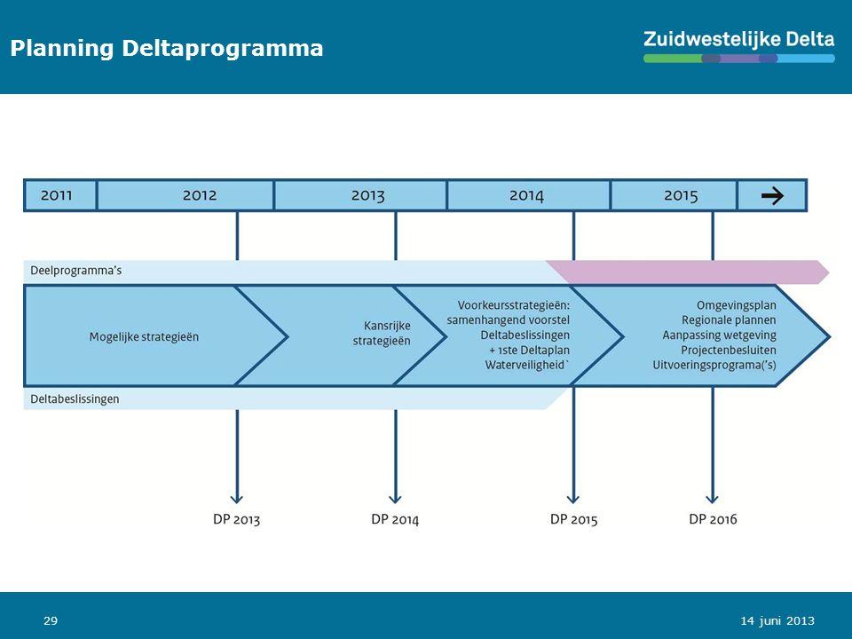 29 Planning Deltaprogramma 14 juni 2013