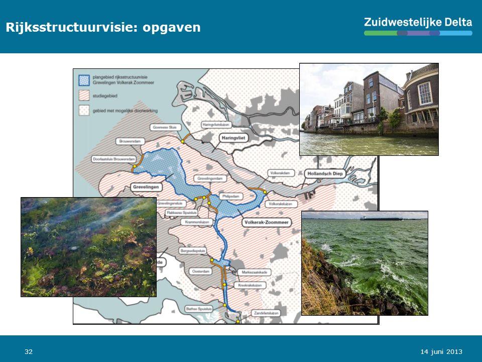32 Rijksstructuurvisie: opgaven 14 juni 2013
