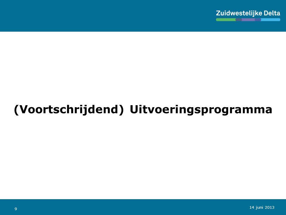 9 (Voortschrijdend) Uitvoeringsprogramma 14 juni 2013
