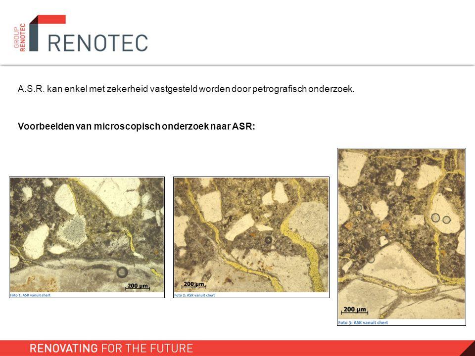 A.S.R. kan enkel met zekerheid vastgesteld worden door petrografisch onderzoek.