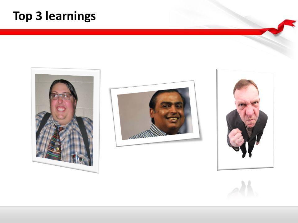 Top 3 learnings